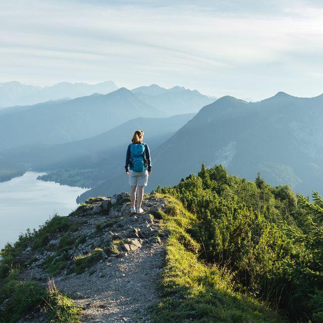 woman hiking alone