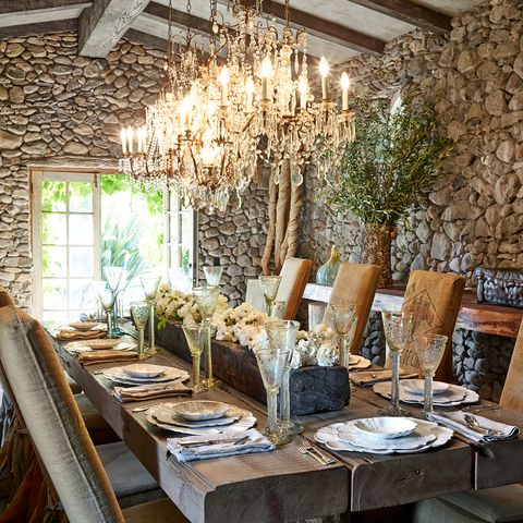 rustic french dining scheme