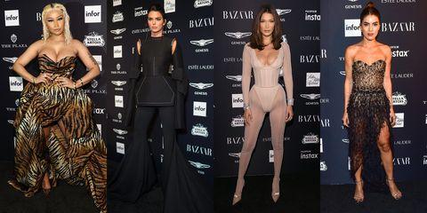 Clothing, Fashion model, Dress, Fashion, Shoulder, Premiere, Carpet, Suit, Formal wear, Haute couture,