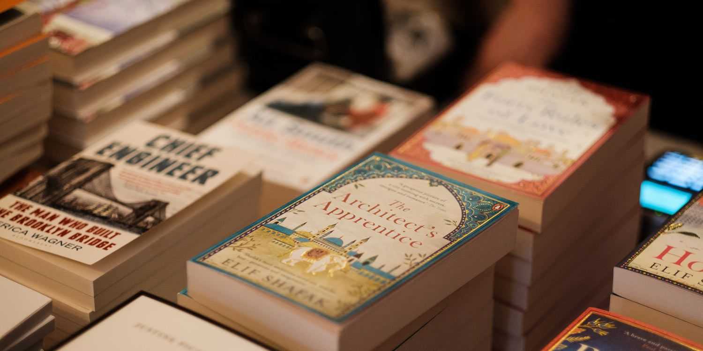 Heywood Hill books at Harper's Bazaar literary salon