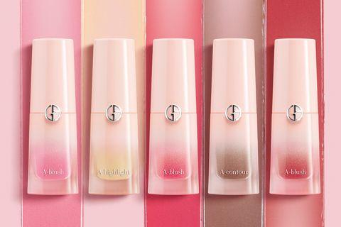 Giorgio Armani,訂製漂染氣墊腮紅露,亞曼尼粉,實擦試色,彩妝,修容露