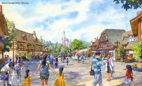 Town, Human settlement, Watercolor paint, Tourism, Painting, Leisure, Illustration, Art, City, Building,