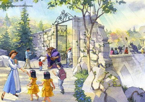 Watercolor paint, Illustration, Painting, Art, Public space, Tree, Pole, Architecture, Visual arts, City,