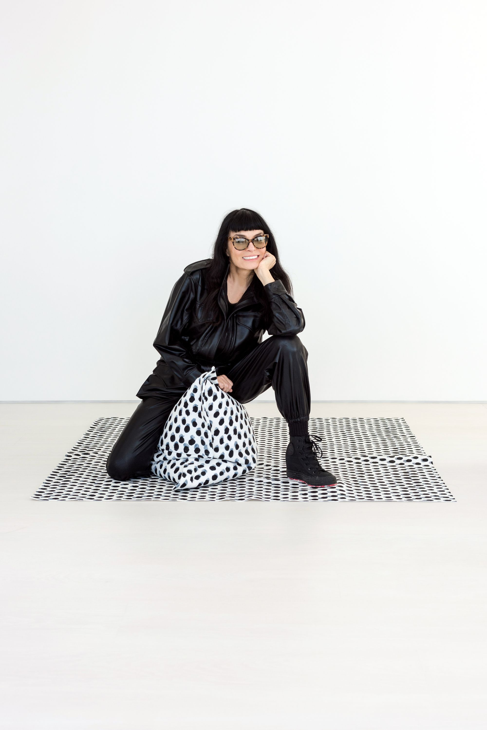 Norma Kamali Has Designed a Pillow and—of Course—It's Made of Swimsuit Fabric