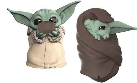 Yoda, Fictional character, Animal figure, Figurine, Animation, Toy, Fawn, Ear, Action figure,