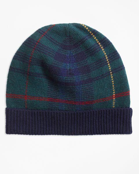 Beanie, Knit cap, Clothing, Woolen, Tartan, Cap, Pattern, Plaid, Wool, Textile,