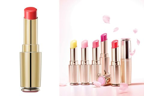 Pink, Lipstick, Cosmetics, Product, Beauty, Lip, Material property, Lip care, Tints and shades, Liquid,