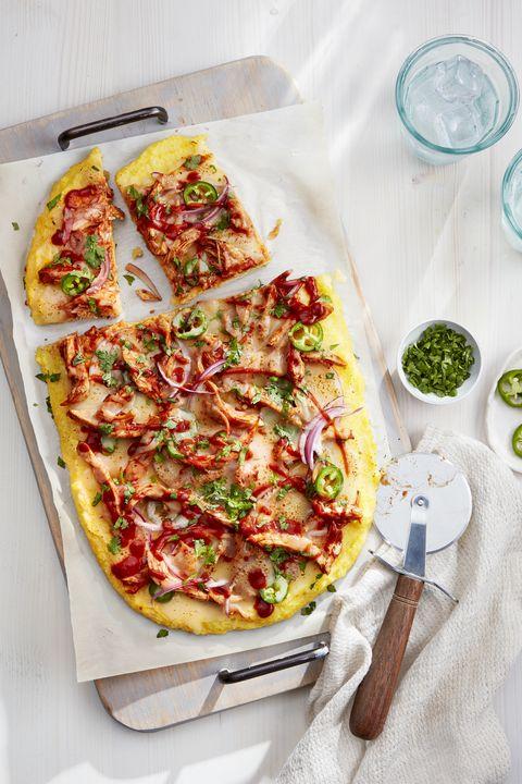 bbq chicken grits pizza