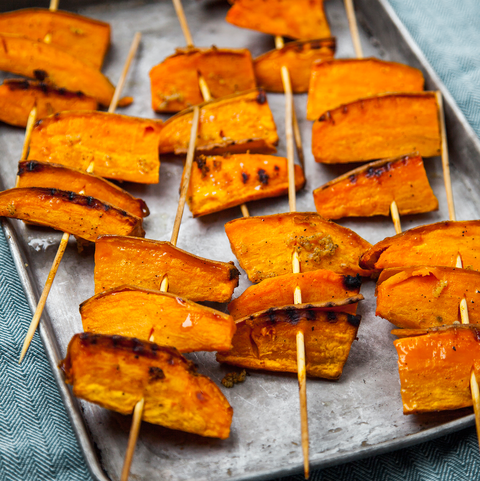 best vegetarian barbecue recipes barbecued sweet potato wedges