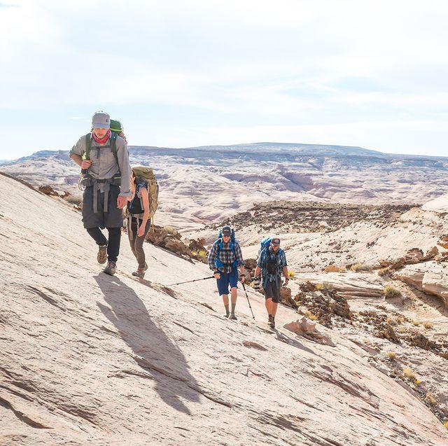 hikers wearing backcountry gear