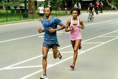 Deba on 31-mile long run