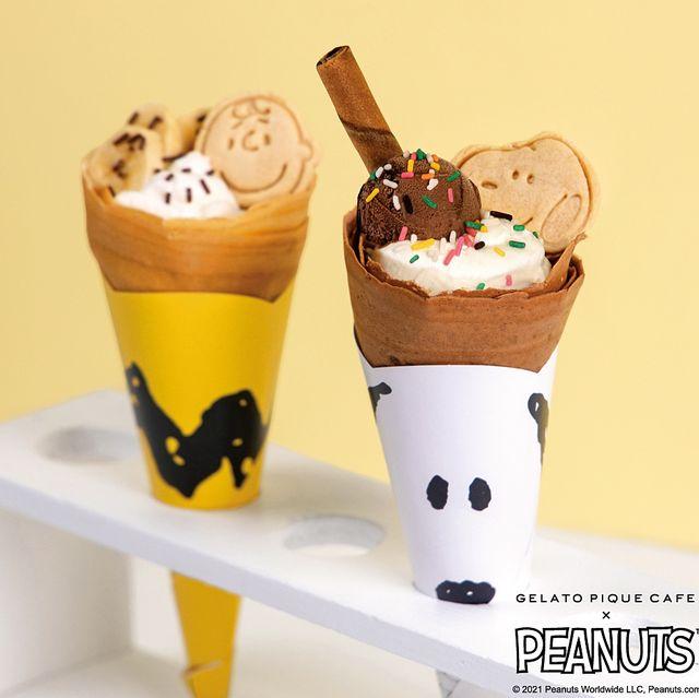 gelato pique café x peantstm花生漫畫為史努比、查理布朗及胡士托量身打造獨特甜點新口味和周邊商品