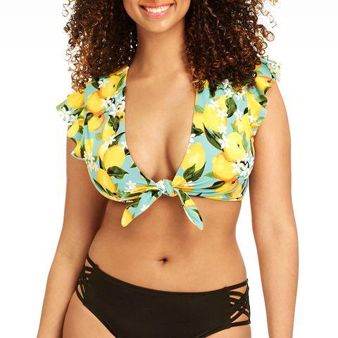 lemon short sleeve bikini