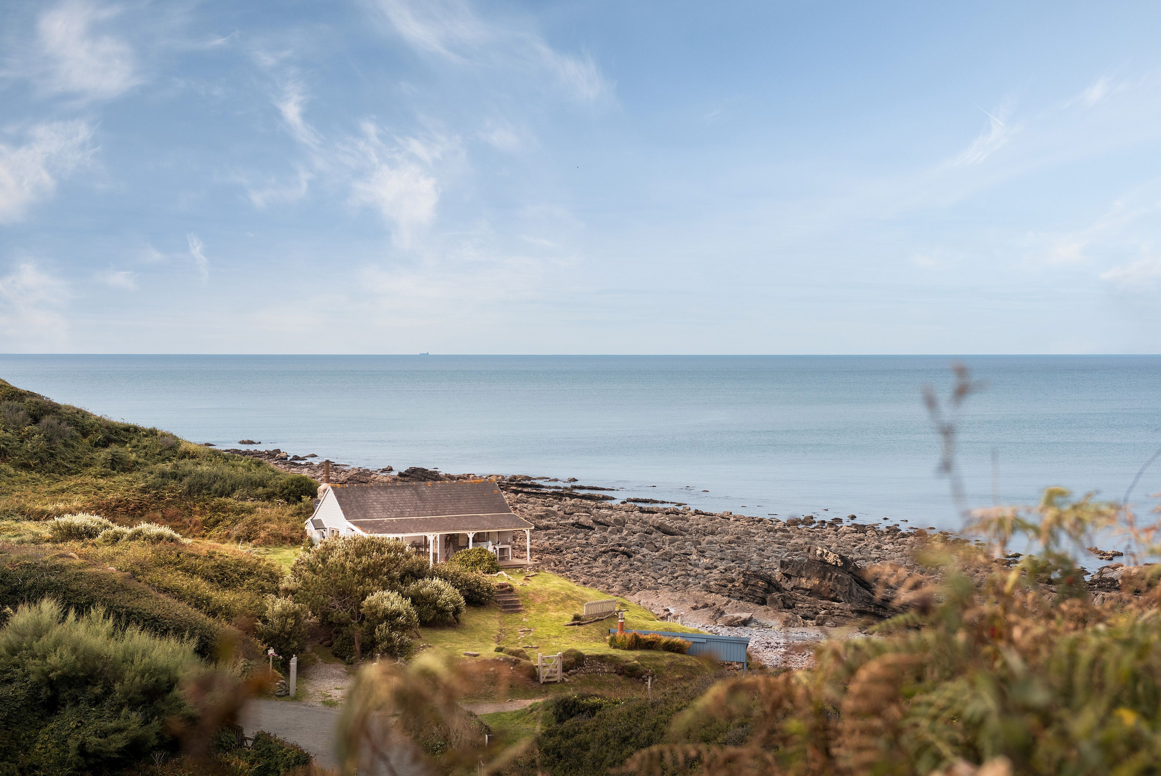 Former 1920s coastal tearoom with 40 acres of land for sale in Cornwall