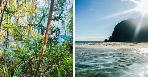 aqua blu excursions around raja ampat, indonesia deserted beaches, jungle covered islands