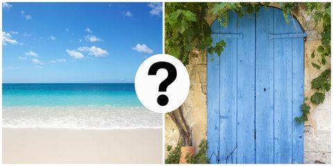 Beach or door optical illusion