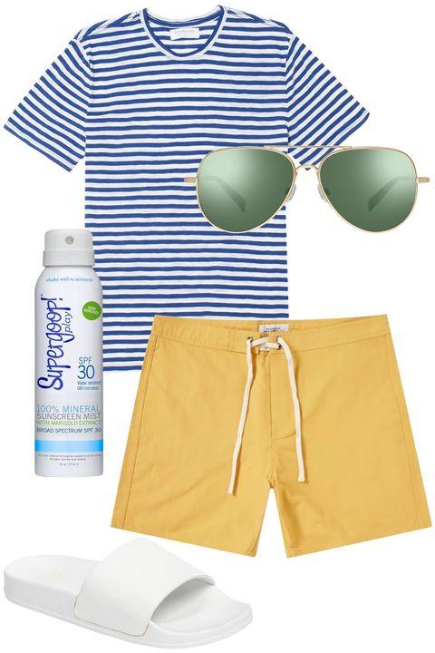 Clothing, Product, Yellow, Green, Shorts, Sportswear, Trunks, Baby & toddler clothing, board short, Swimwear,