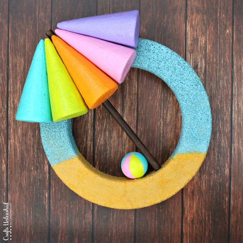 Beach Umbrella - Summer Wreaths