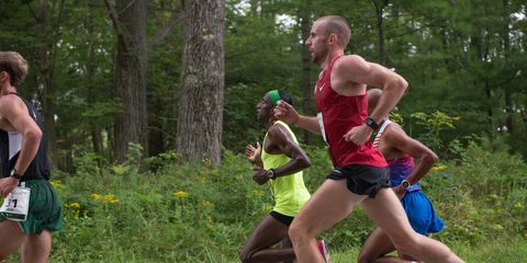 Chris Solinsky at the 2014 Beach to Beacon 10K.