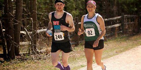 Laura Beachy at the Umstead 100 Mile Endurance Run