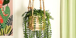 Beaded Macrame Hanging Pot