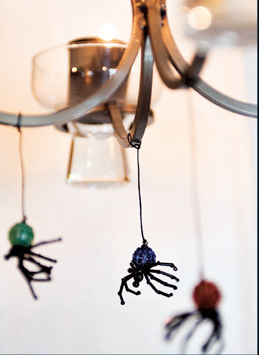 FALL BEADED SPIDER KIT Makes 2 Halloween Spiders