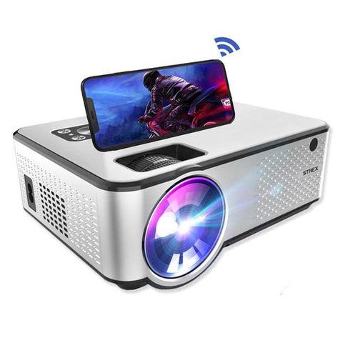 strex beamer hd 1280 x 720p 4200 lumen streamen vanaf je telefoon met wifi mini projector