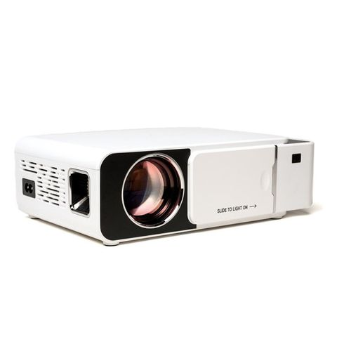dailygoods beamer full hd led mini beamer heldere projectie draagbare projector wit