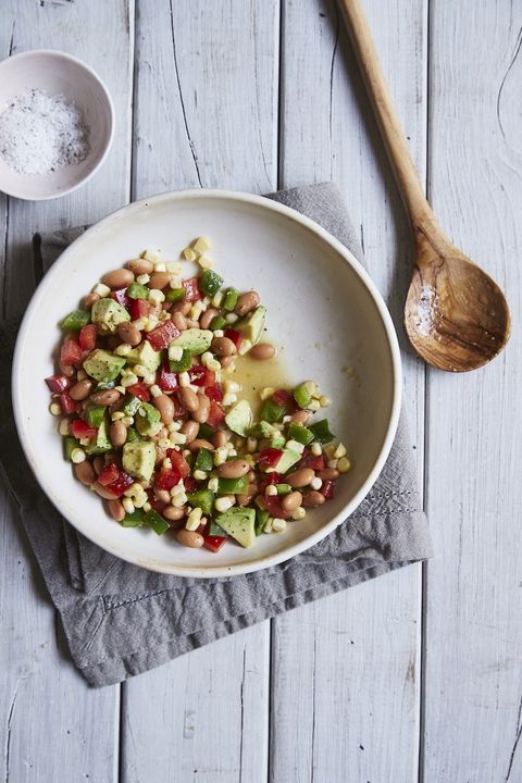 dash diet bean and pepper salad