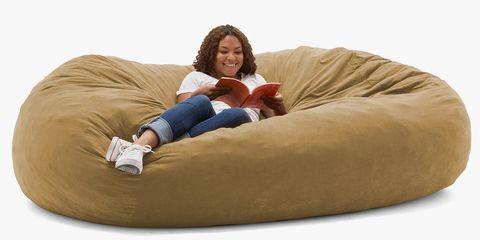 Furniture, Comfort, Bean bag, Bean bag chair, Pillow, Sitting, Couch,