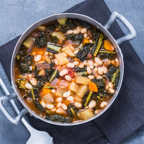 beans soup with vegetables