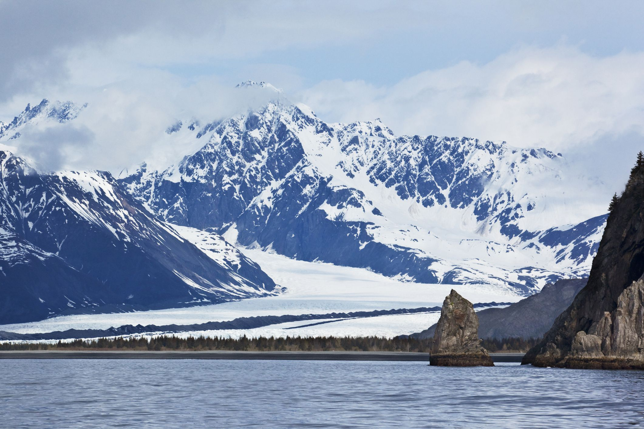 Bear Glacier in Kenai Fjords National Park as seen from Resurrection Bay near Seward, Alaska, U.s.a.