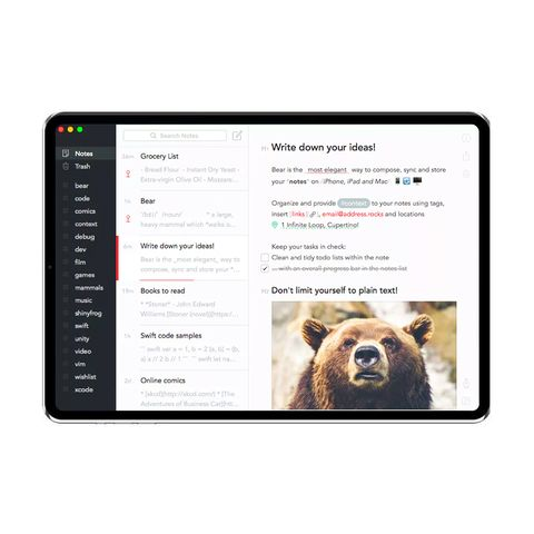 Bear Note-Taking App
