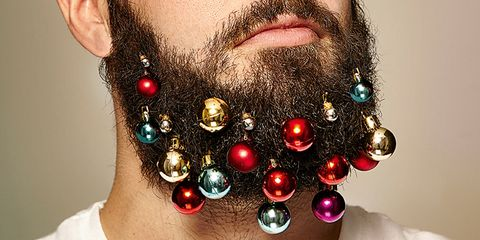 Men Are Decorating Their Beards with Christmas Ornaments for Extra Holiday Cheer