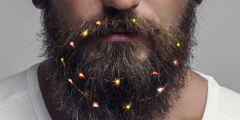 Christmas Beard.There Are Now Beard Lights So Men Can Celebrate Christmas All Out