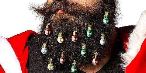 Facial hair, Hair, Beard, Moustache, Christmas, Christmas ornament,
