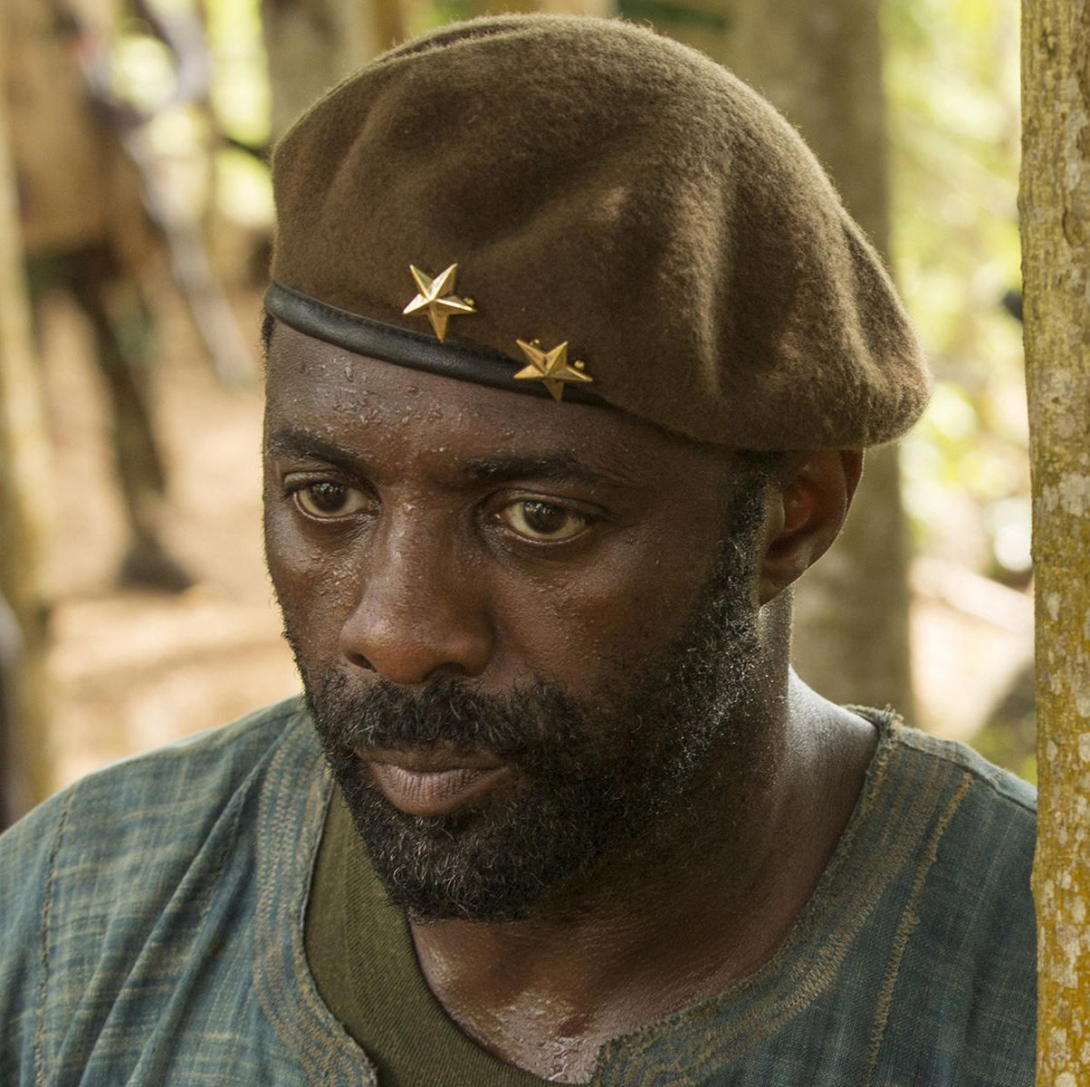 Beasts of No Nation A young boy named Agu is forced into joining a team of rebellion forces to fight in a bloody civil war that has torn his unnamed West African country apart. Idris Elba stars as the charismatic rebel leader, known only as the Commandant, who leads Agu and his fellow soldiers down a dark and violent path.