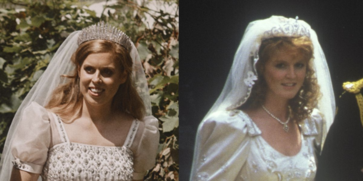 Princess Beatrice S Wedding Dress Compared To Sarah Ferguson Fergie