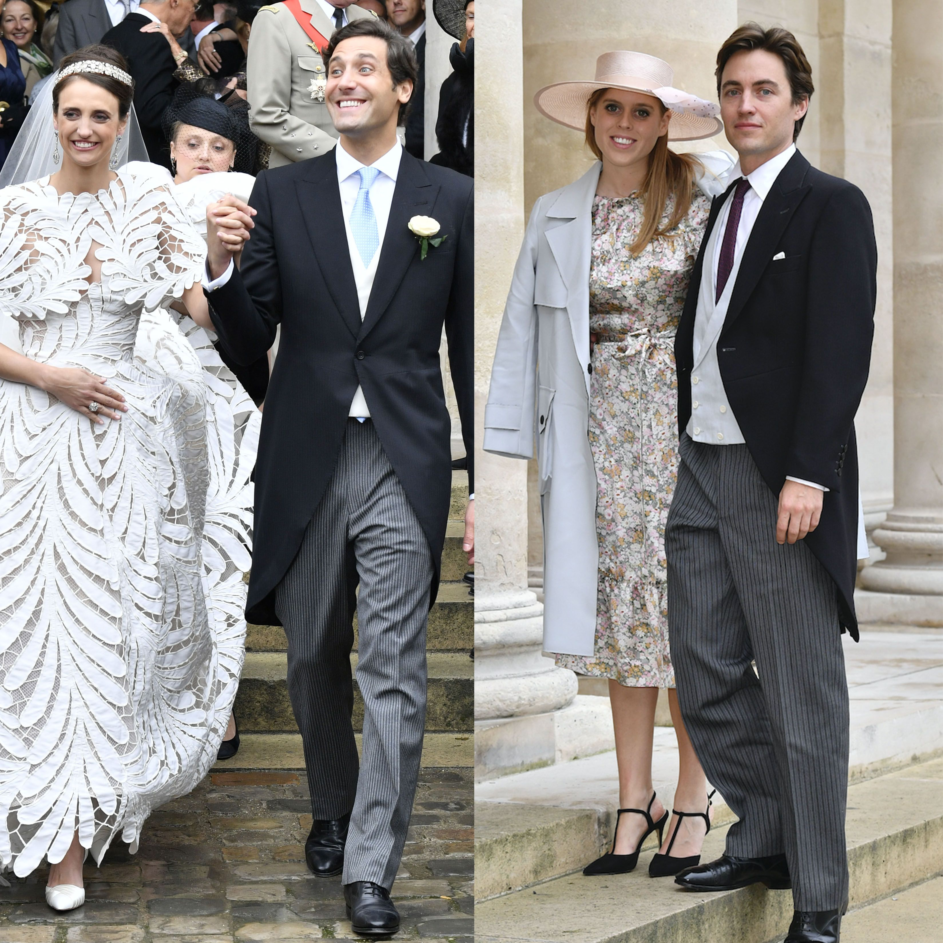 Princess Beatrice and her fiancé attend Prince Napoléon's wedding in Paris