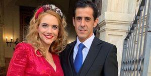 Beatriz Trapote con su marido Víctor Janeiro