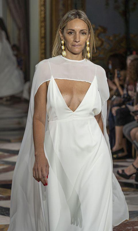 la ex de albert rivera, con un vestido de novia de jorge de la rosa atelier