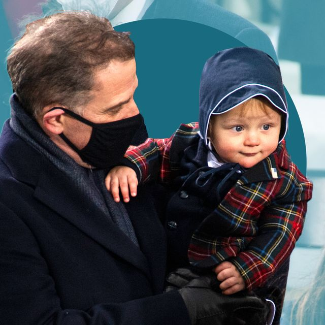 hunter and baby beau biden in bonnet on inauguration 2021