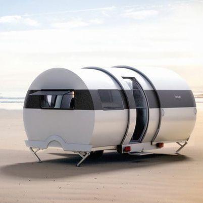 Travel trailer, Vehicle, Trailer, Sky, Material property, Landscape, Compact car, Car, RV,