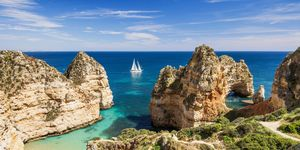 Beautiful beach on Algarve coast, Portugal