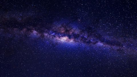 beautiful milky way with stars and space dust on a night sky