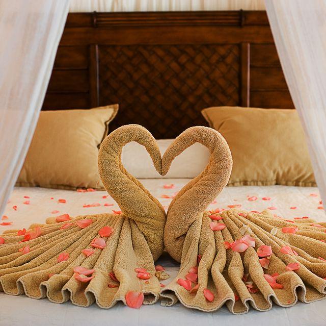 Beautiful Romantic Hotel Suite Interior, Empty