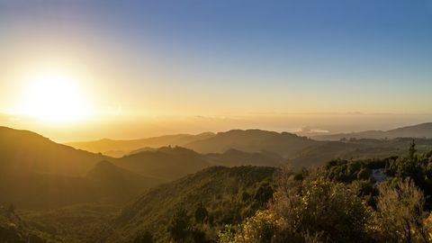 Nature, Mountainous landforms, Natural landscape, Hill, Highland, Atmosphere, Mountain range, Plant community, Atmospheric phenomenon, Landscape,