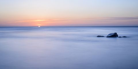 Sky, Body of water, Horizon, Sea, Nature, Ocean, Calm, Coast, Natural landscape, Sunrise,