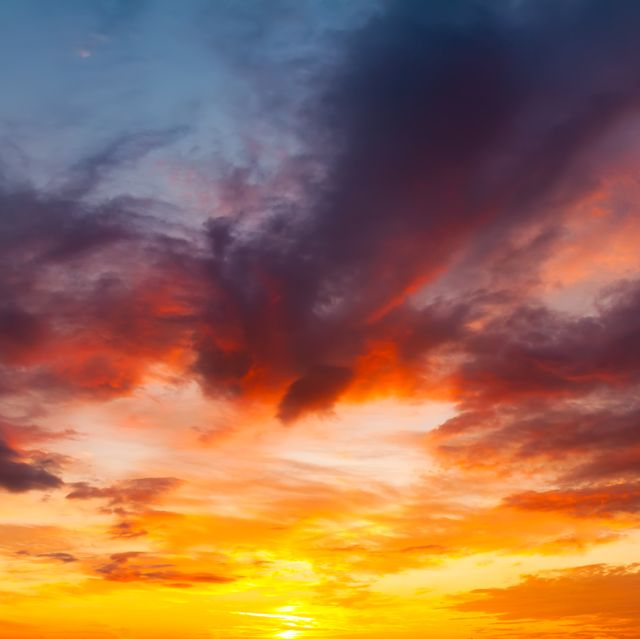 beautiful sunset sky natural background