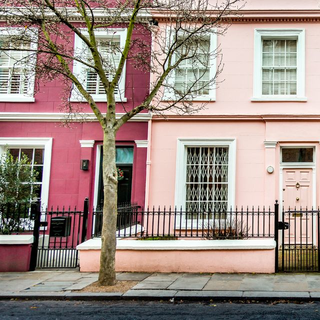 beautiful traditional british terraced houses